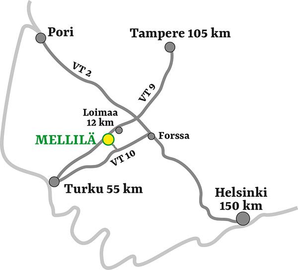 Mellilän kartta